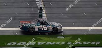 100 Nascar Truck Race Results Austin Hill 16 Celebrates His Win NASCAR Stock Photo 10108298l