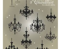 Chandelier SVG Files Fancy Clip Art Wall Decal Cuttable