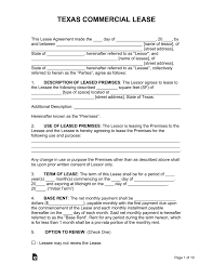 100 Commercial Truck Lease Agreement Free Texas Template PDF Word EForms