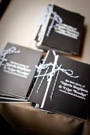 Black White Modern Weddding Ceremony Program Twine