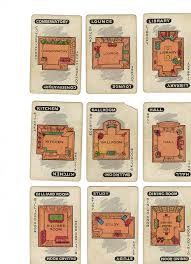 Vintage Clue Game Cards Rooms By OnFoot4now Didi Via Flickr