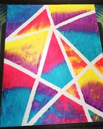 Tape Painting Diy Canvas