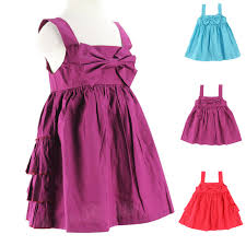 Girls Dresses New Fashion 2016 Summer Baby Dress Bow Ruffle Design Girl Clothes Kids Woven