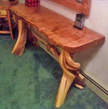 Rustic Log Make Up Table Or Vanity