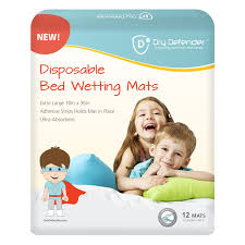 Goodnites Bed Mats by Dry Defender Disposable Bedwetting Mats Pack Of 12 Extra Large