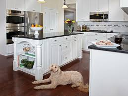 Image Of White Kitchen Cabinets With Gray Granite Countertops