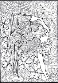 Adult Coloring Pages Yoga Poses Hand Drawn Counseling Meditation Dancing Colouring In Dance