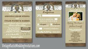 Rustic Style Wedding Invitations Horseshoe Burlap And Lace Inspired