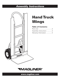 Magliner HAND TRUCK WINGS User Manual | 4 Pages Hand Truck Assembly Youtube Magliner Gemini Jr Convertible Gma16uac Bh Photo Bearings Bushings Parts Accsories Caster Cnection Costco Members Cosco 3in1 Alum 80 At 750 Lb Capacity 27 In Alinum Curb Ramp With Nonskid Surface And Trucks Casters Midwest Industrial Equipment Assembly Itructions Instrucciones De Montaje Pallet Dolly Hitch Replacement Extruded Diecast Noses And Best 2017 Carts Hmk15aua4 Straightback