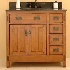 Black Granite Countertop Single Rustic Bathroom Vanities With Drawers Storages And Round Built In Sink