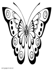 Free Coloring Book Butterfly