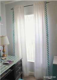 Lush Decor Window Curtains by Stripe Edged Curtains Using Chevron Fabric The Homes I Have Made