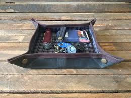 Mens Leather Dresser Valet by Valet Tray Mens Valet Edc Valet Edc Gear Wallet Tray