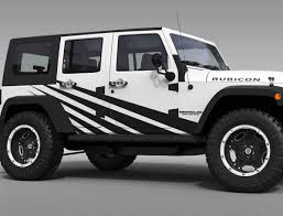 Straight Splash Graphic Decal For 07-17 Jeep Wrangler Unlimited JK 4 ...