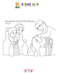 51 Elisha And The Widow Coloring Page Pages