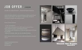 100 English Architects JOB OFFER Junior Architect Vincent Van Duysen