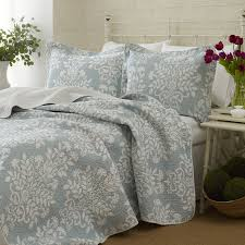 Noble Excellence Bedding by Laura Ashley Rowland Blue Quilt Bedding Laura Ashley Bedding