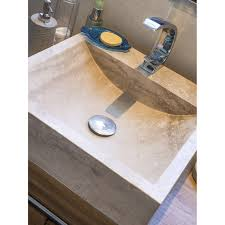 le a poser leroy merlin vasque à poser travertin l 45 x p 45 cm beige naturel ninon