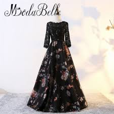 popular long black prom dresses lace evening dress buy cheap long