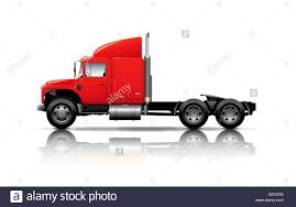 100 Semi Truck Toy Red Semitruck Isolated On White Background Stock Photo