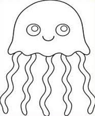 Jellyfish Clipart Black And White 5
