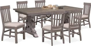 100 6 Chairs For Dining Room Charthouse Rectangular Table And Side Gray Value
