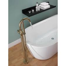 Delta Bronze Tub Faucet by Delta Faucet T4759 Fl Trinsic Polished Chrome Freestanding Tub