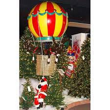 Barcana Christmas Trees by Barcana Giant Commercial Grade Santa In Air Balloon U0026 Reindeer