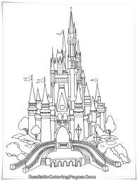 Frozen Castle Coloring Page Pages