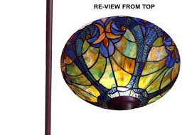 Tiffany Style Glass Torchiere Floor Lamp by Floor Lamps Tiffany Style Glass Torchiere Floor Lamp Victorian
