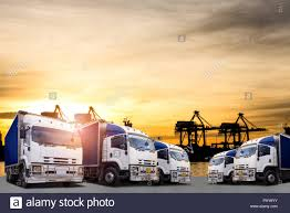 100 Truck And Transportation Logistics And And Cargo Ship With Working Crane