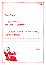 letter to Santa Claus template Less text Santa presents 7