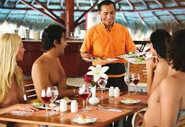 Naked Chef Dining In The Resorts Restaurant Can Also Be Done Au Naturel