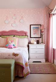 Coral Pink Bedding With Themed Wall Decals Kids Traditional And Hanging Plates