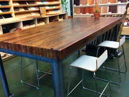 Wooden Butcher Block Kitchen Table