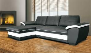basika canapé canape d angle à gauche convertible marc convertible noir blanc