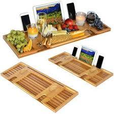 Bamboo Bathtub Caddy With Reading Rack by 25 Unique Bathtub Wine Glass Holder Ideas On Pinterest Bath