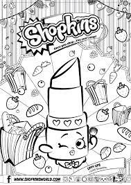 Shopkins Colour Color Page Lippy Lips ShopkinsWorld