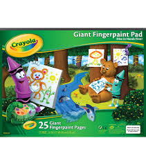 Crayola Bathtub Fingerpaint Soap Set by Crayola Giant Fingerpaint Paper Pad 16