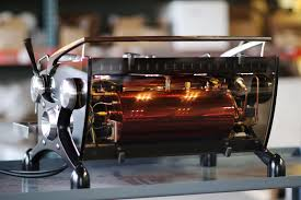 This Image Is A Back Panel View Of The Slayer Espresso Custom Machine With Smoked