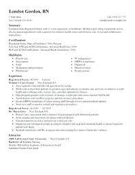 Objective For A Nursing Resume Registered Nurse Sample Create My