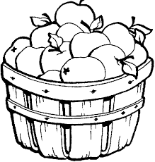 Apple Basket Clipart Free Coloring Pages