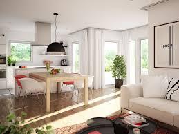 offenes wohn esszimmer mit küche wintergarten erker