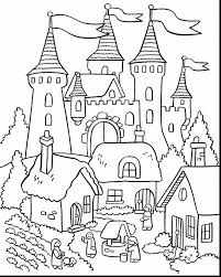 Beautiful Flower Garden Coloring Pages With Castle Page And To Print