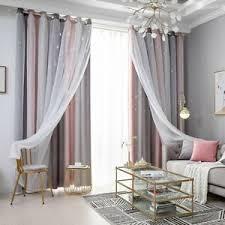 2er set gardinen mit ösen vorhänge transparent wohnzimmer