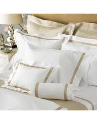 Yves Delorme Bedding by Matouk Matouk Fitted Sheet Queen Milano Ivory 17