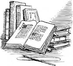 Antique Books Clipart