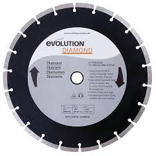Tile Saw Blades Home Depot by Evolution Power Tools 12 In Diamond Masonry Blade 12bladedm The