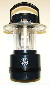 ge flashlight 4 cell blue black plastic lantern c 1990