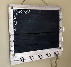Small Rustic Chalkboard And Key Holder